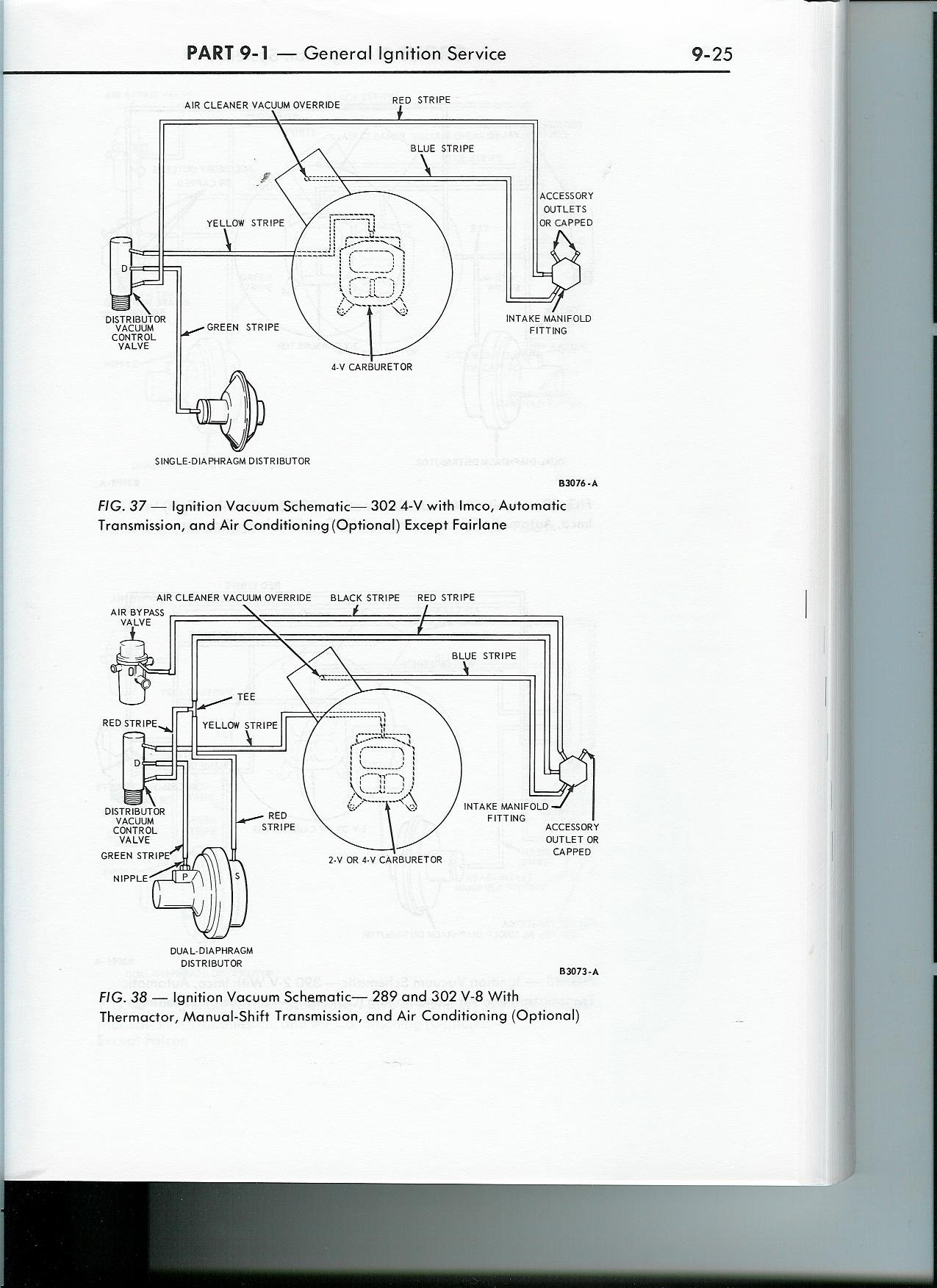 1968 Mustang 289 Distributer Vacuum Lines Where Do They Go Ford Diagram Click Image For Larger Version Name 68 Vacuum2 Views 5655 Size