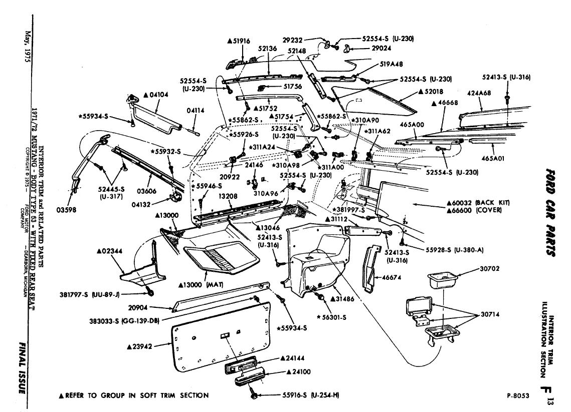 1972 mach 1 rear seat problem