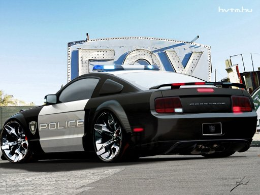 Ford Mustang Police Car Rear