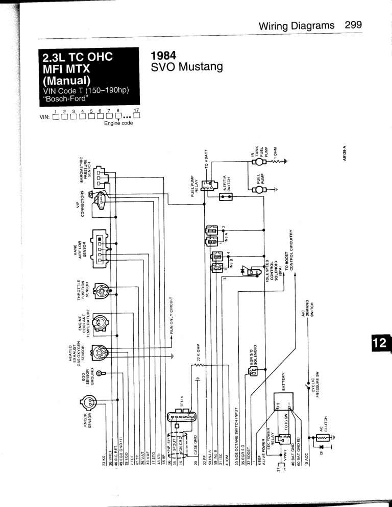 86 mustang svo engine wiring diagram svo mustang wiring diagram verification of 1986 svo eec - page 2 - ford mustang forum #2