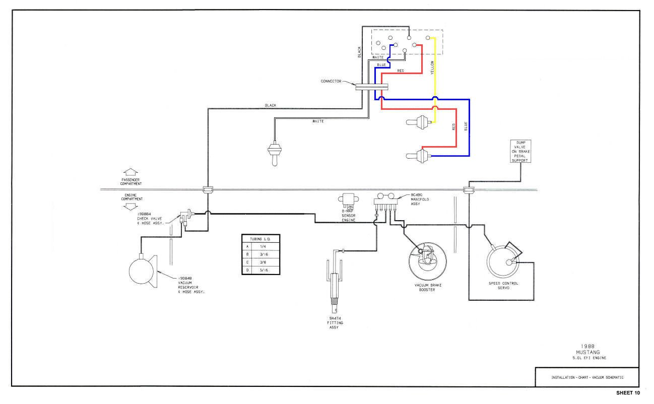 Vacuum Line Diagram 1988 Ford Mustang Reinvent Your Wiring 1989 Thunderbird Sc Fuse Box Gt Smog Pump Delete Lines And Belt Length Rh Allfordmustangs Com Ranger 1998