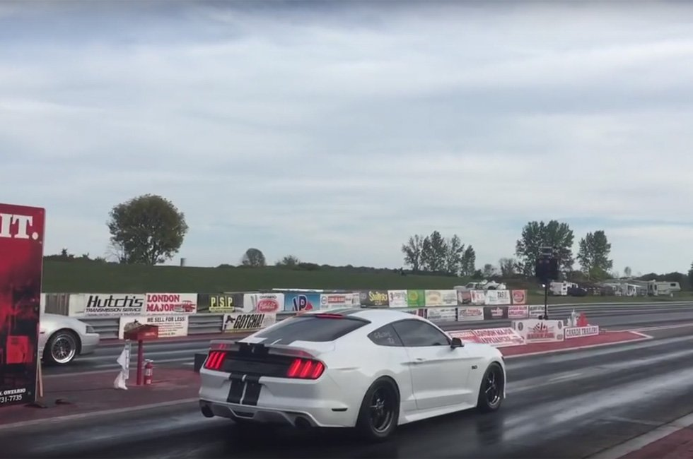 First 9 Second Pass in a 2015 Mustang