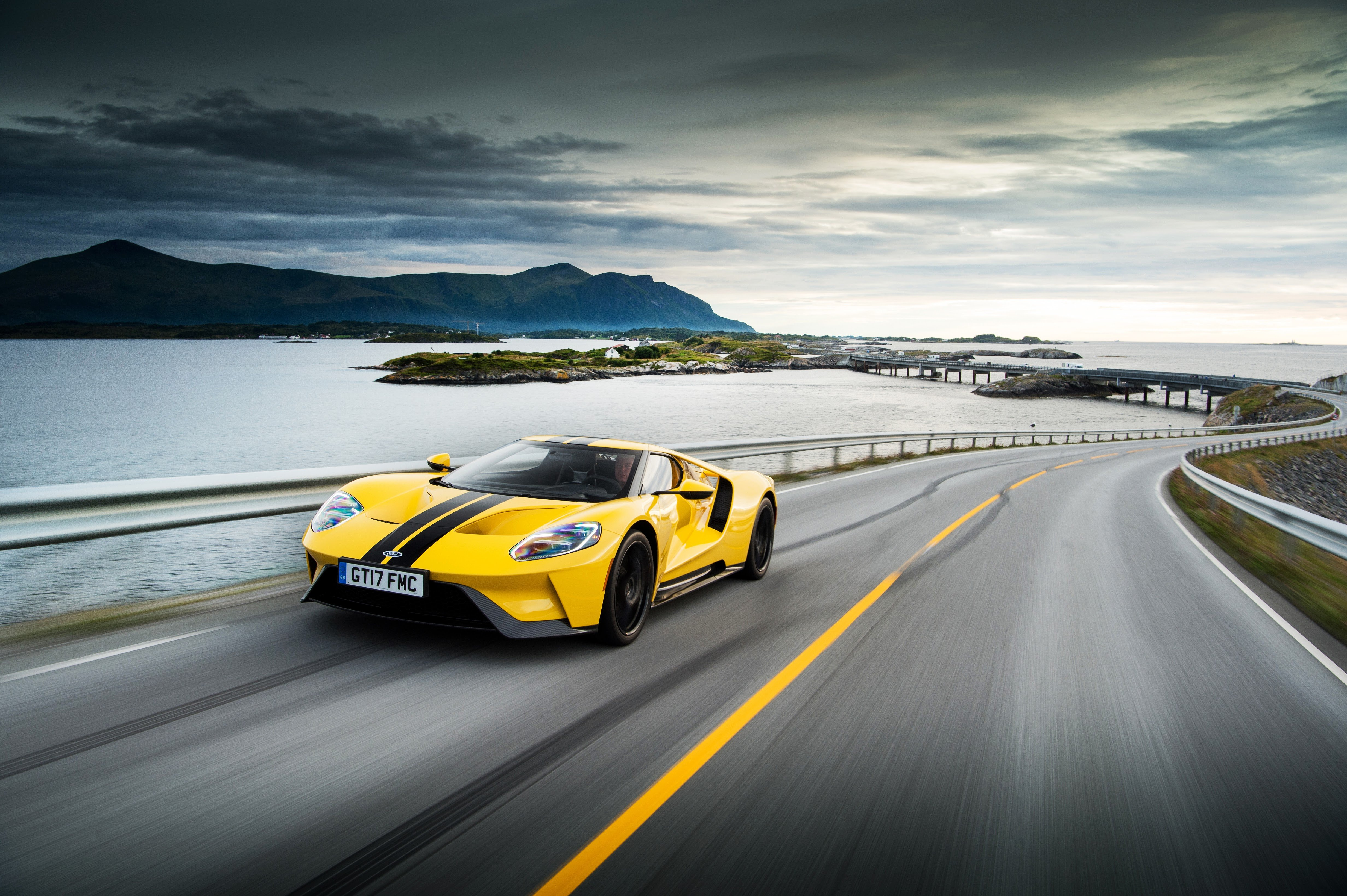 Ford Brought A Triple Yellow Gt To Norway For A Along The Beguiling Atlantic Ocean Road