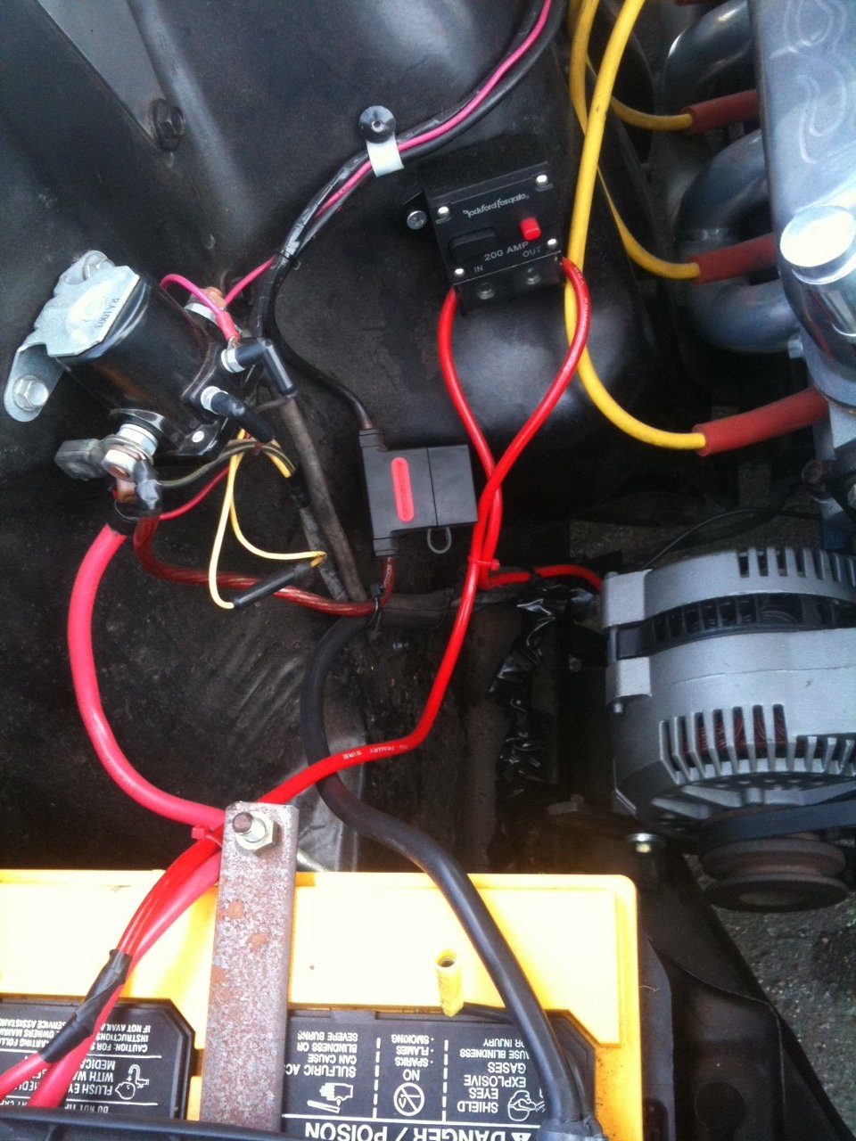 D Single Wire Alternator Install Mustang Problems Alt on ford starter relay wiring diagram