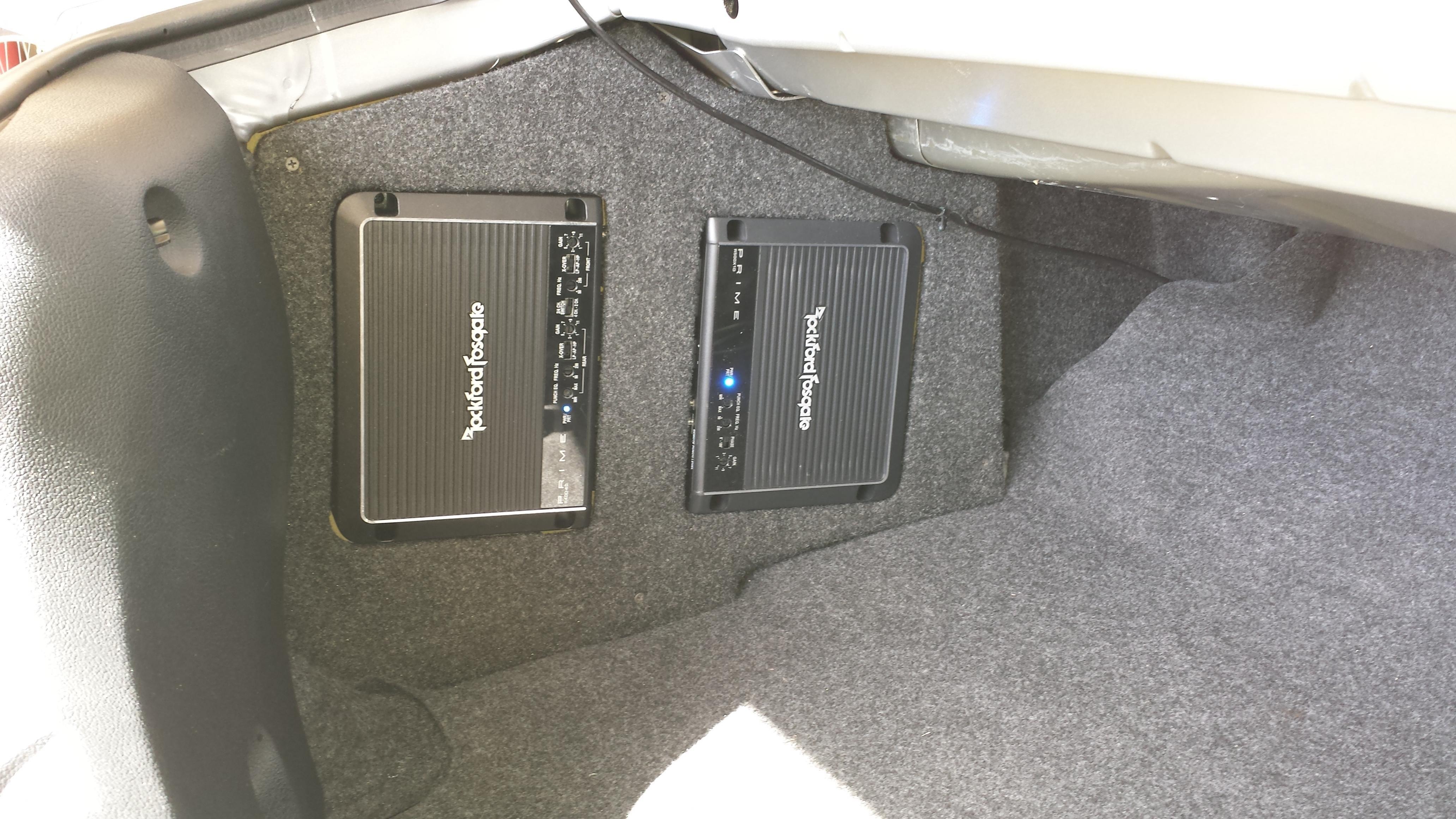 Rosen Navigation  Amplifer Instsall  Subwoofer Install
