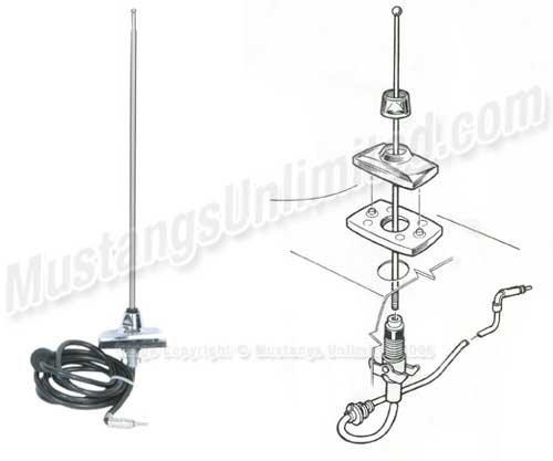 69 radio antenna install
