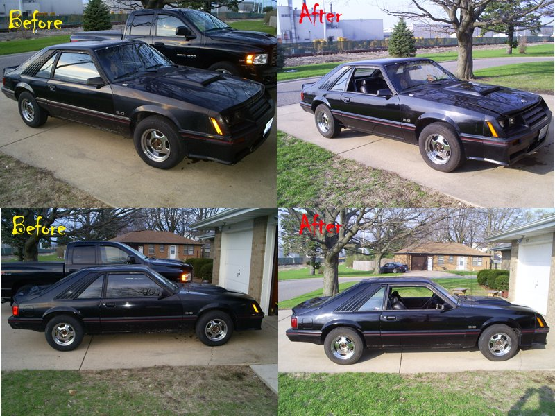 before and after pics of simple turtle wax polish wax ford mustang forum. Black Bedroom Furniture Sets. Home Design Ideas