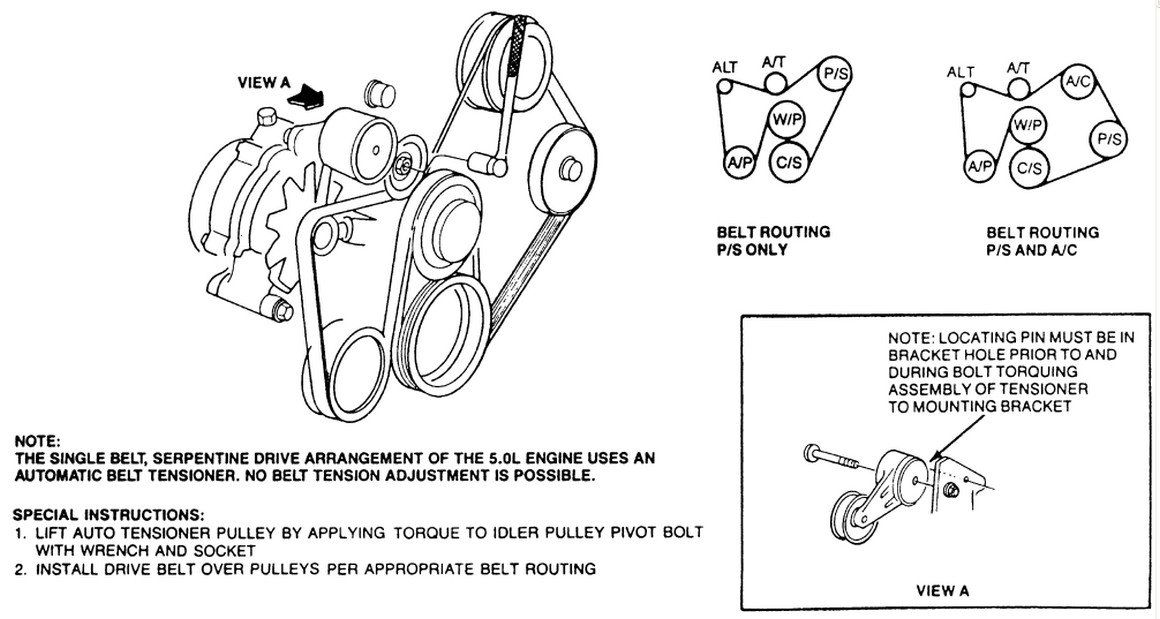 D Serpentine Belt Installation Belt Diagram