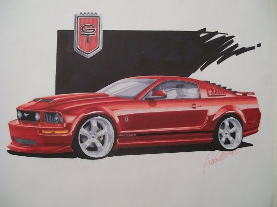 Cars Drawings Mustang Mustang Drawing Side View