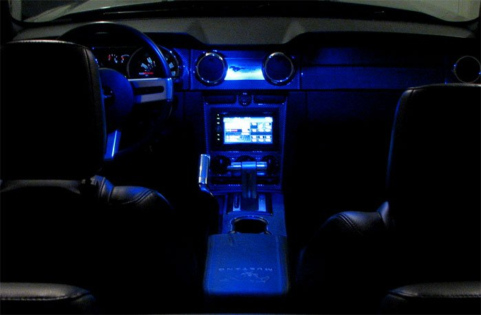 Led Lighting In The Interior Of The Car Ford Mustang Forum