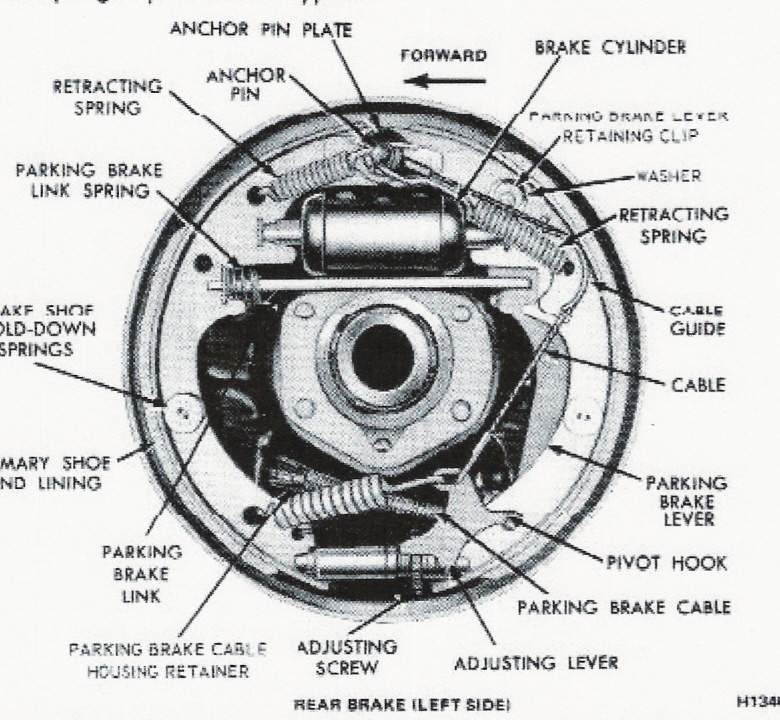 Drum Brake Shoe Diagram : Mustang quot drum brake shoe spring ford forum