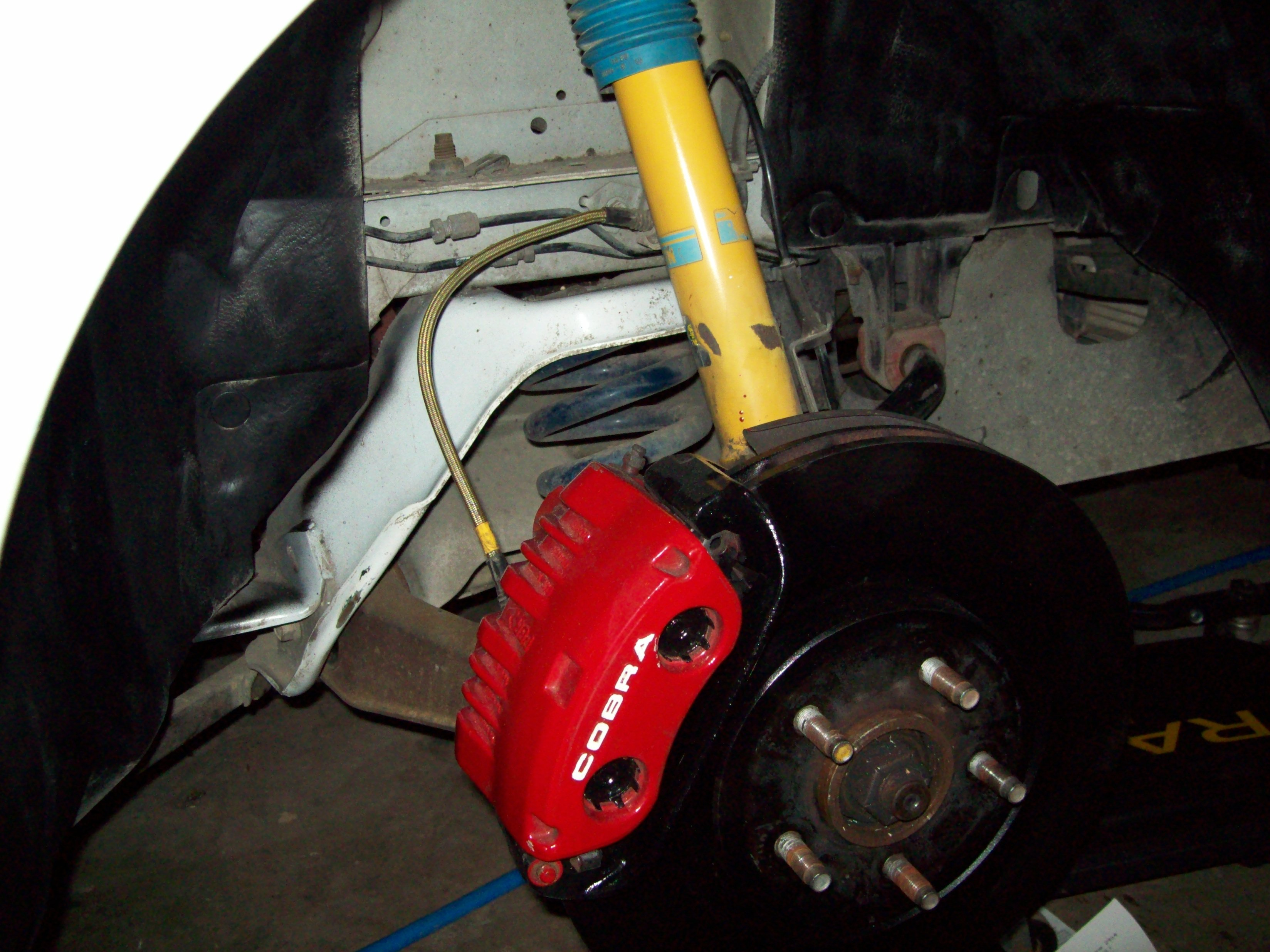 Caliper paint chop whatcha think page 2 mustangforums com - Click Image For Larger Version Name Brake Work 004 Jpg Views 1142 Size