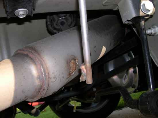 exhaust system making rattling noise
