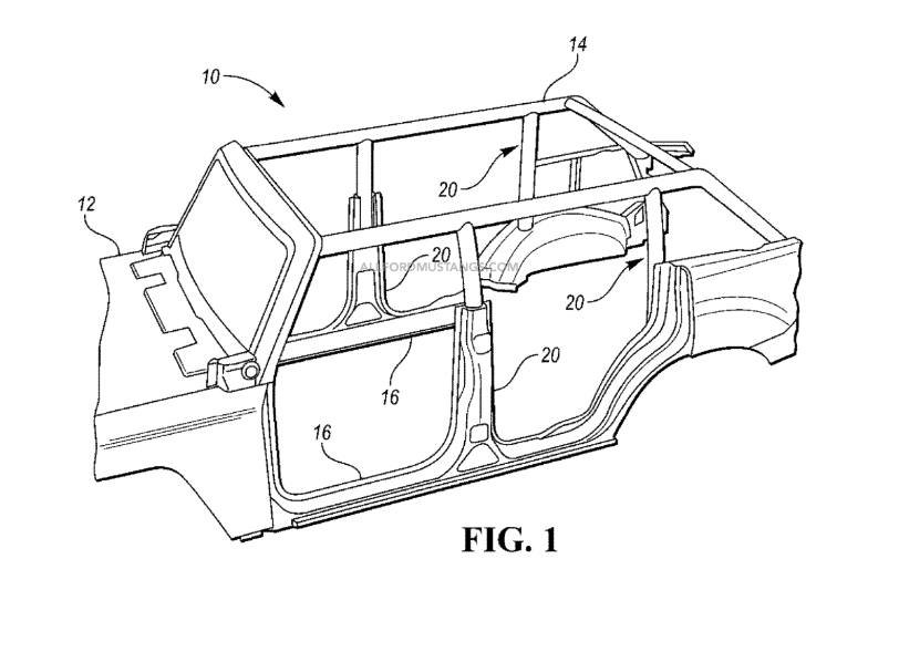 Patent Suggests that Bronco Roll Cage Could Come Off with Roof