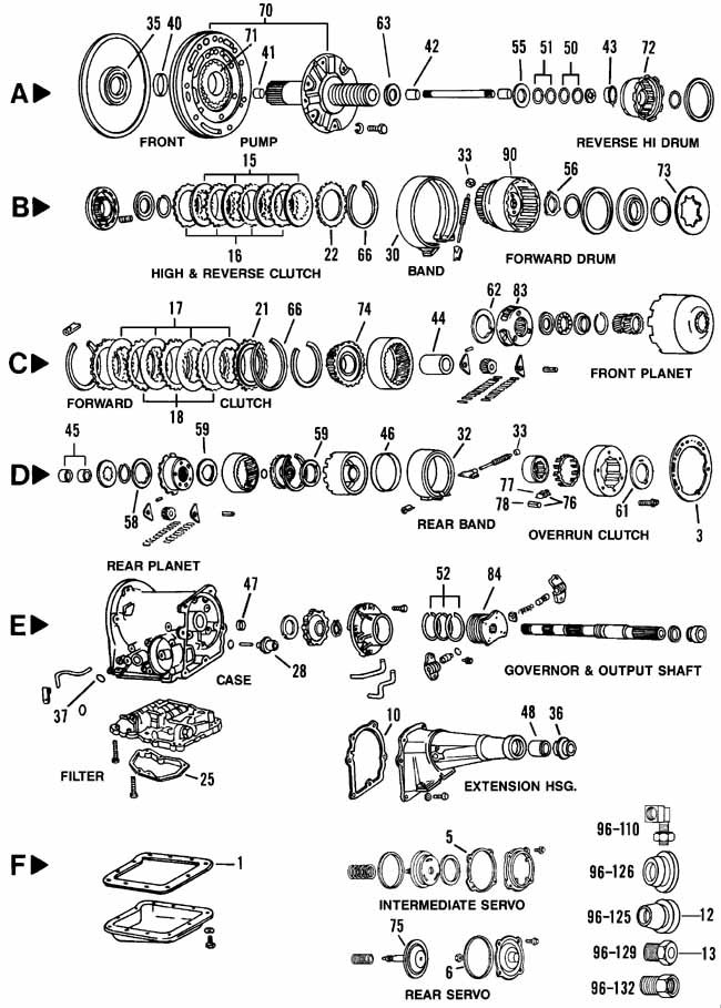 ford c4 transmission schematic