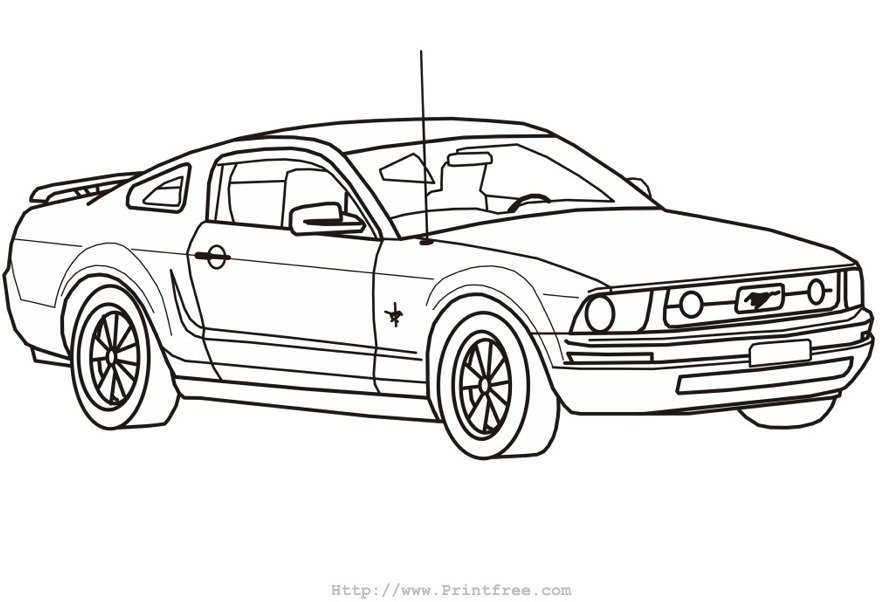 ford mustang drawing template
