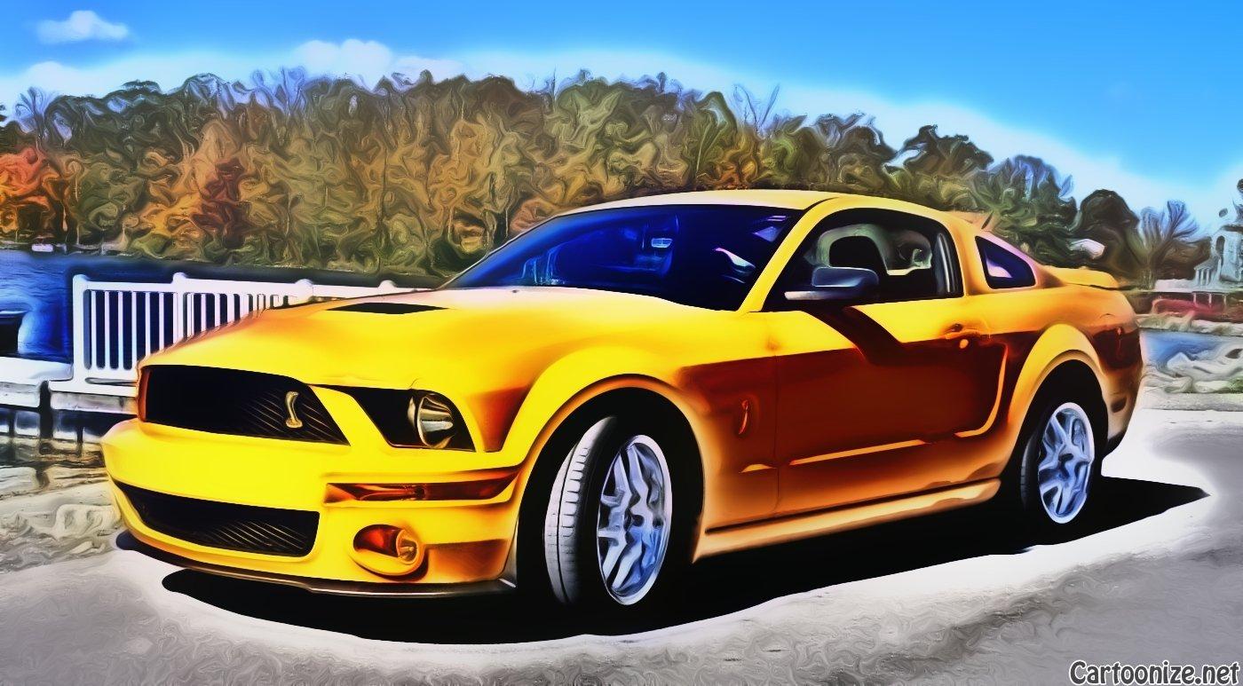 Cartoonize Your Car Ford Mustang Forum - Cool car cartoon