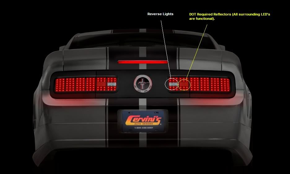 Cervini S 05 09 Led Taillight Conversion Kit Ford