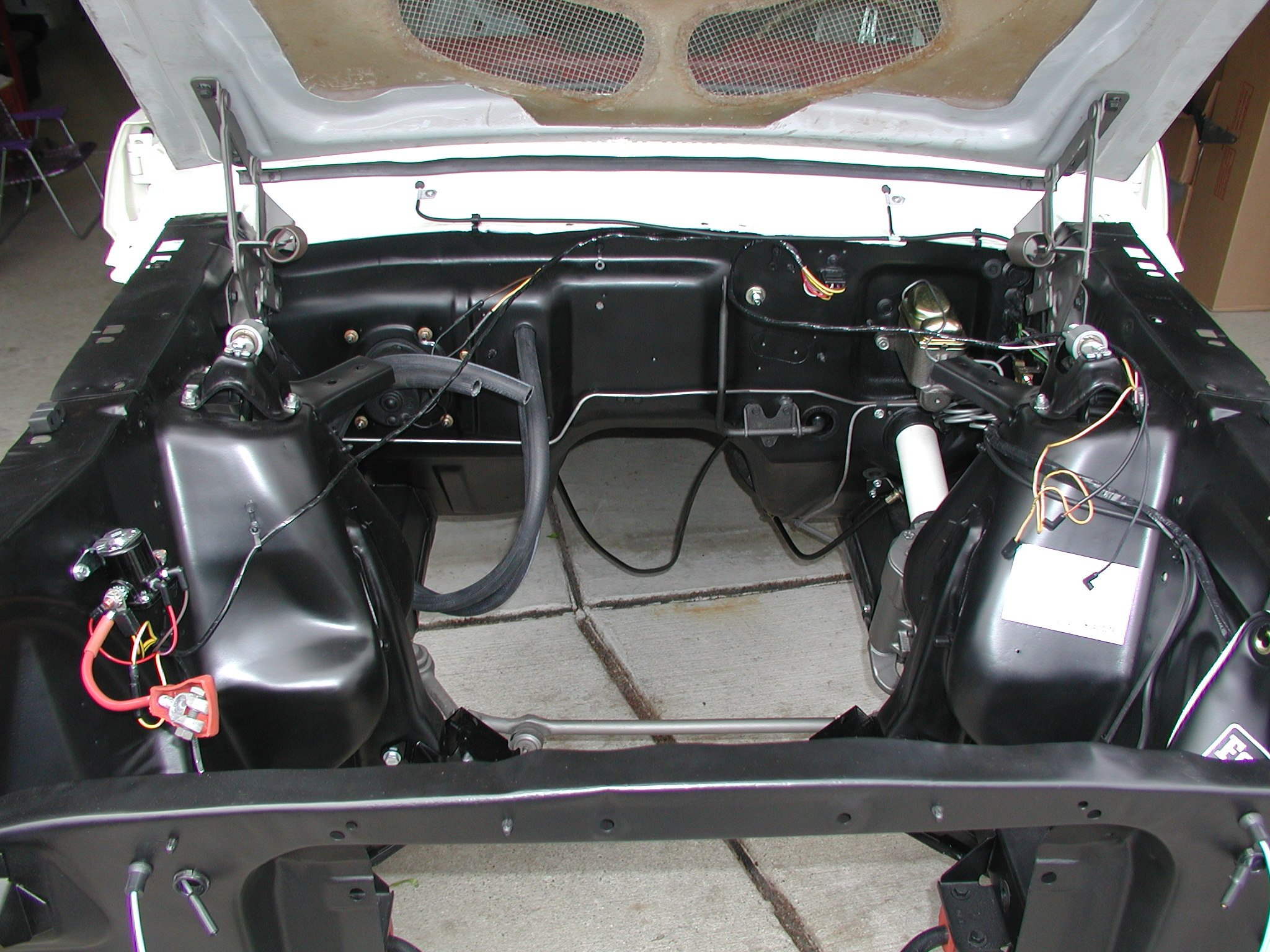 1966 mustang  engine bay detailing