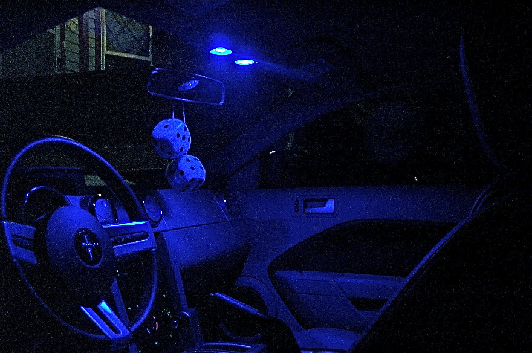 My New Red LED Interior Lights - Ford Mustang Forum