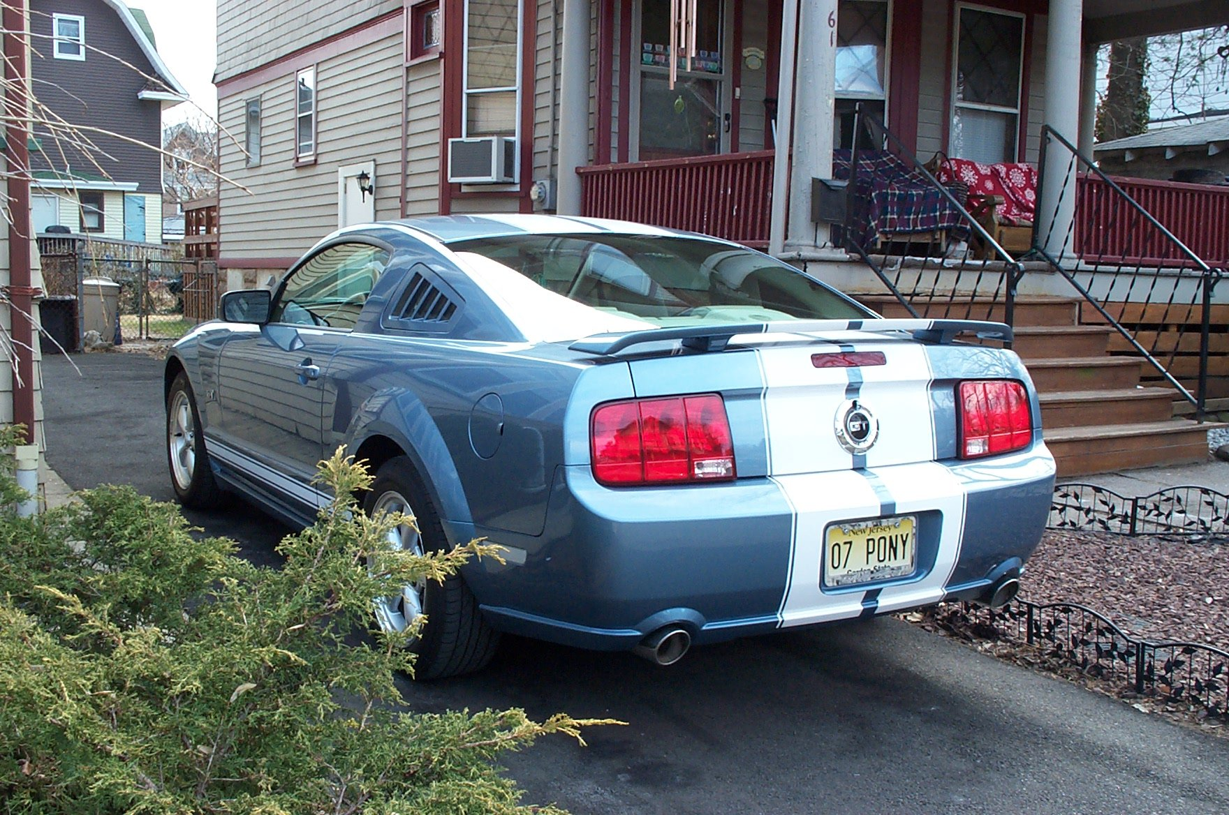 10 Quot Stripes On Windveil Blue Ford Mustang Forum