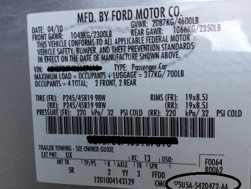 Tire Sticker On Door Ford Mustang Forum