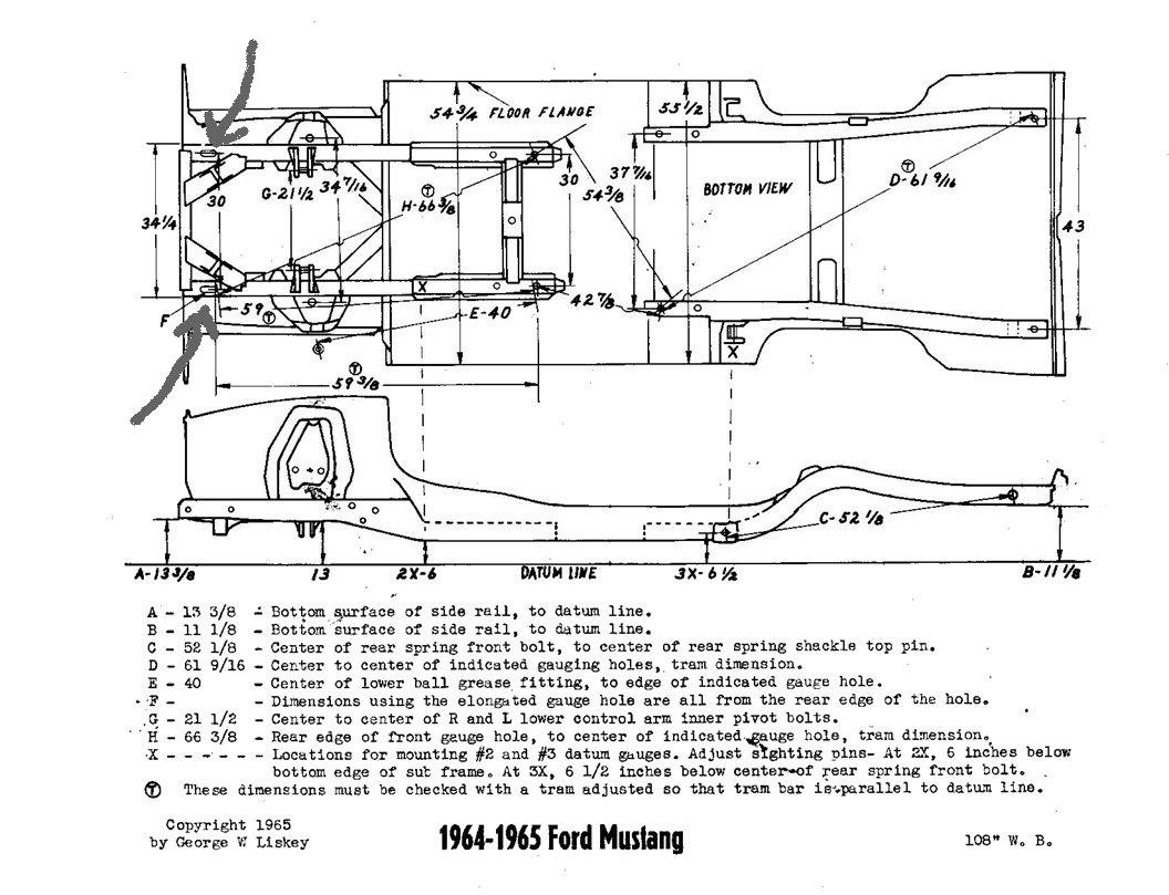 f 150 frame diagram mystery bolt on 1965 mustang ford mustang forum  mystery bolt on 1965 mustang ford