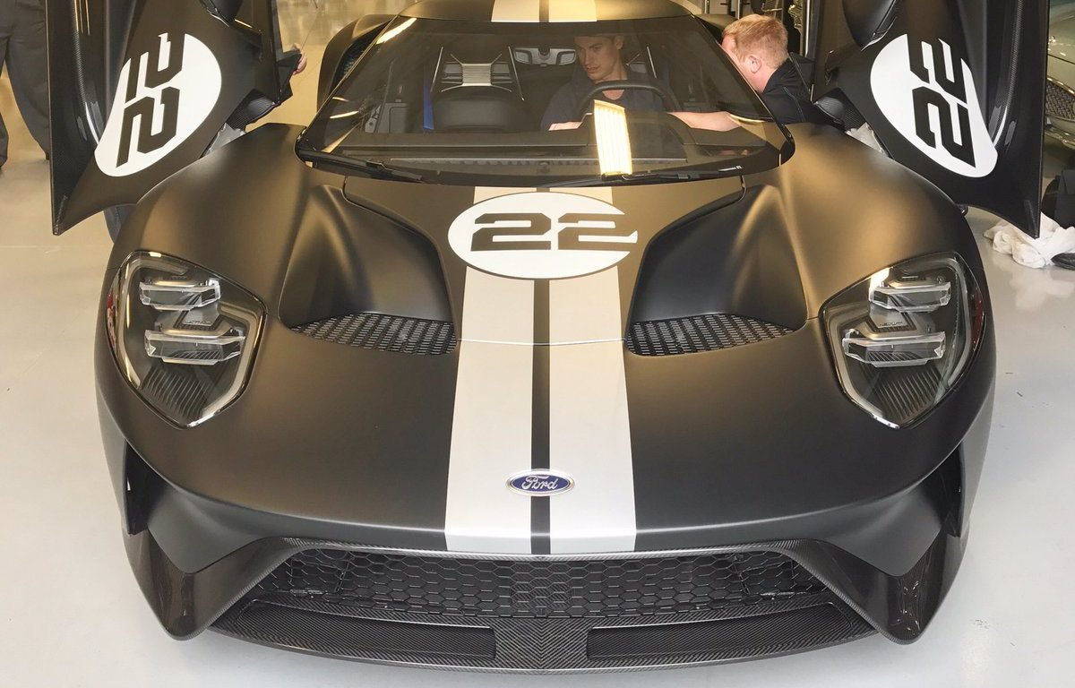 Fords Big Grinning Nascar Cup Man Took Delivery Of His  Supercar Earlier This Week