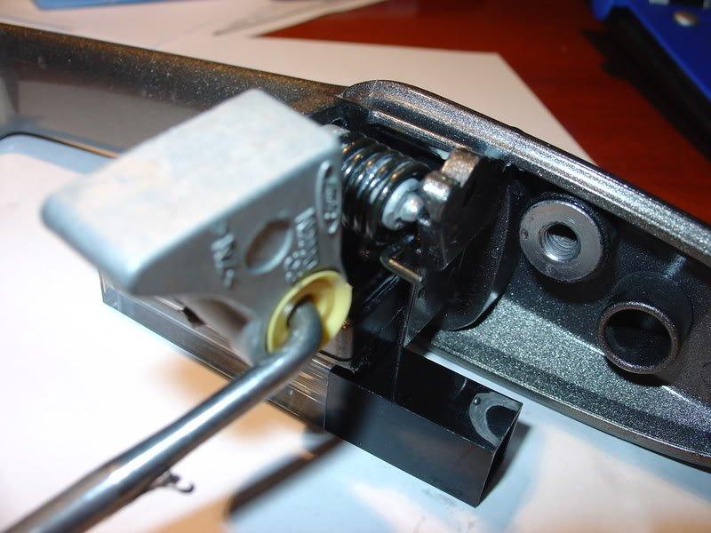 ... Click image for larger version Name Doorlatchford007.jpg Door handle broken pic 2. & v6 mustang 2006 door handle loose/not retracting all the way ...