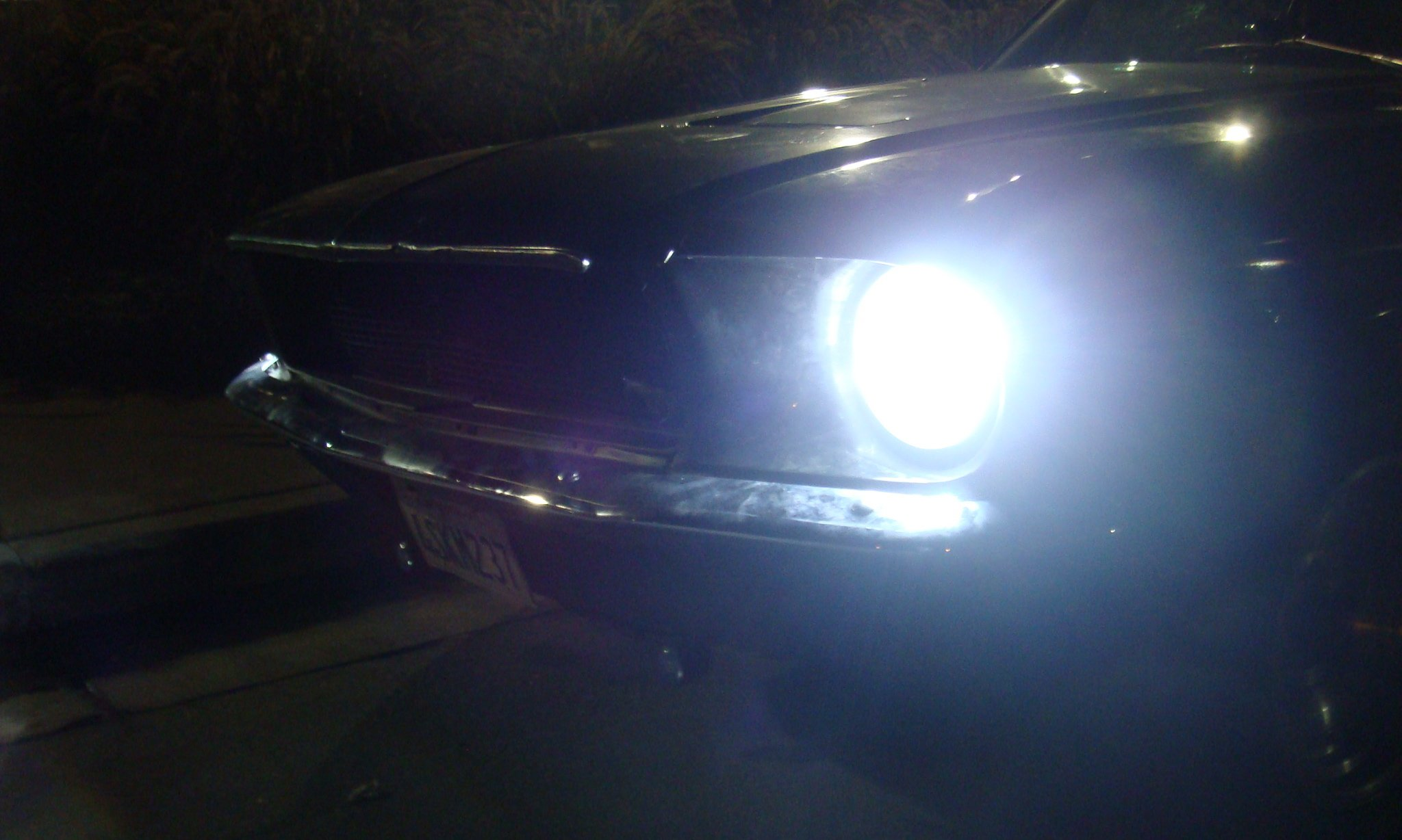 Hid Headlights In A 1969 Mustang Coupe Ford Mustang Forum