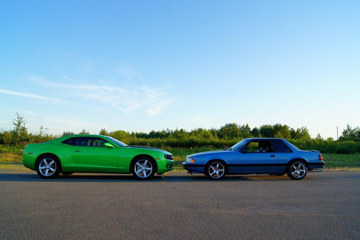 2010 Camaro And 1990 Mustang Size Comparison Ford