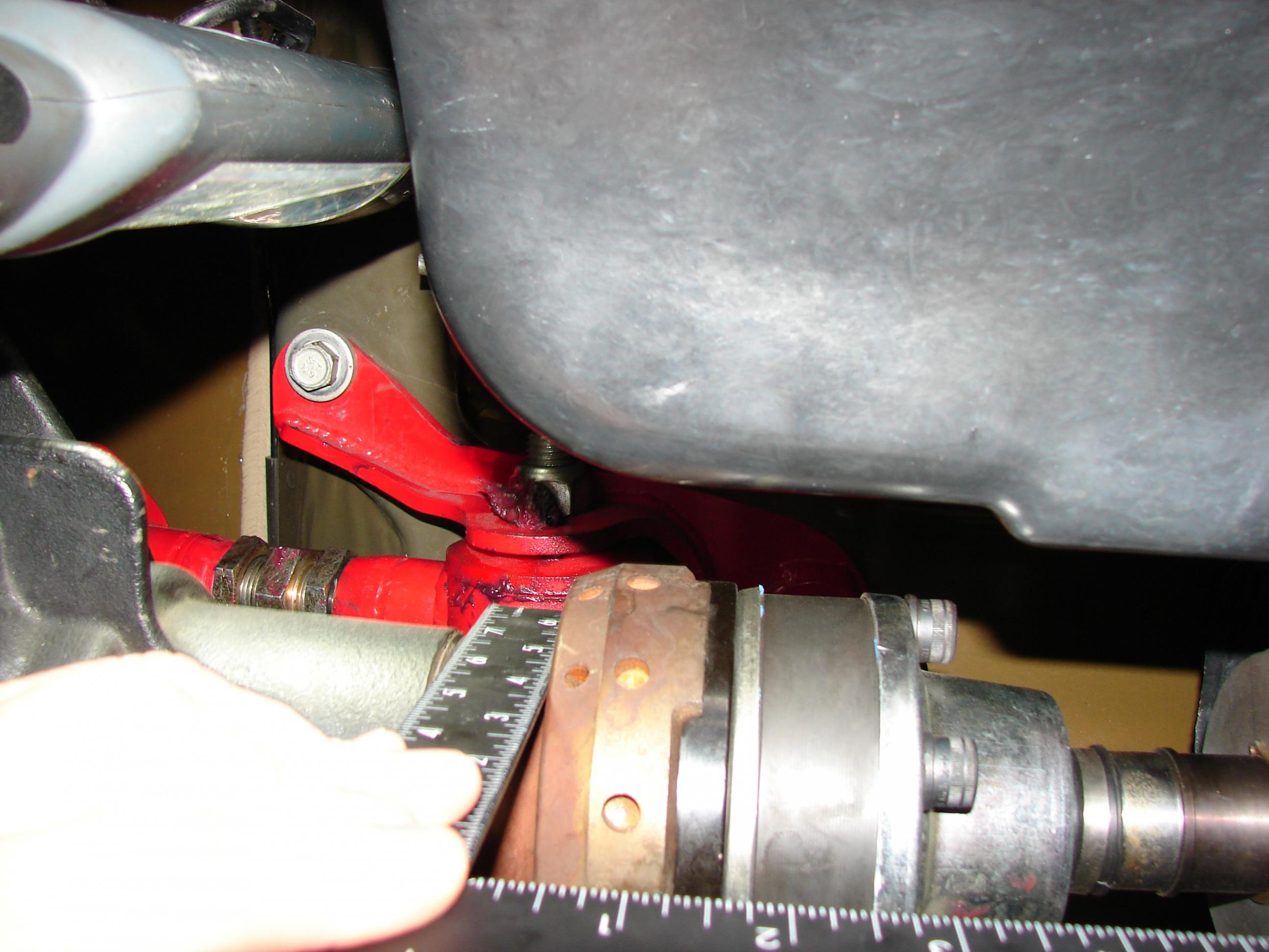 D Adjusting Pinion Angle Piece Driveshaft Already Installed Dsc