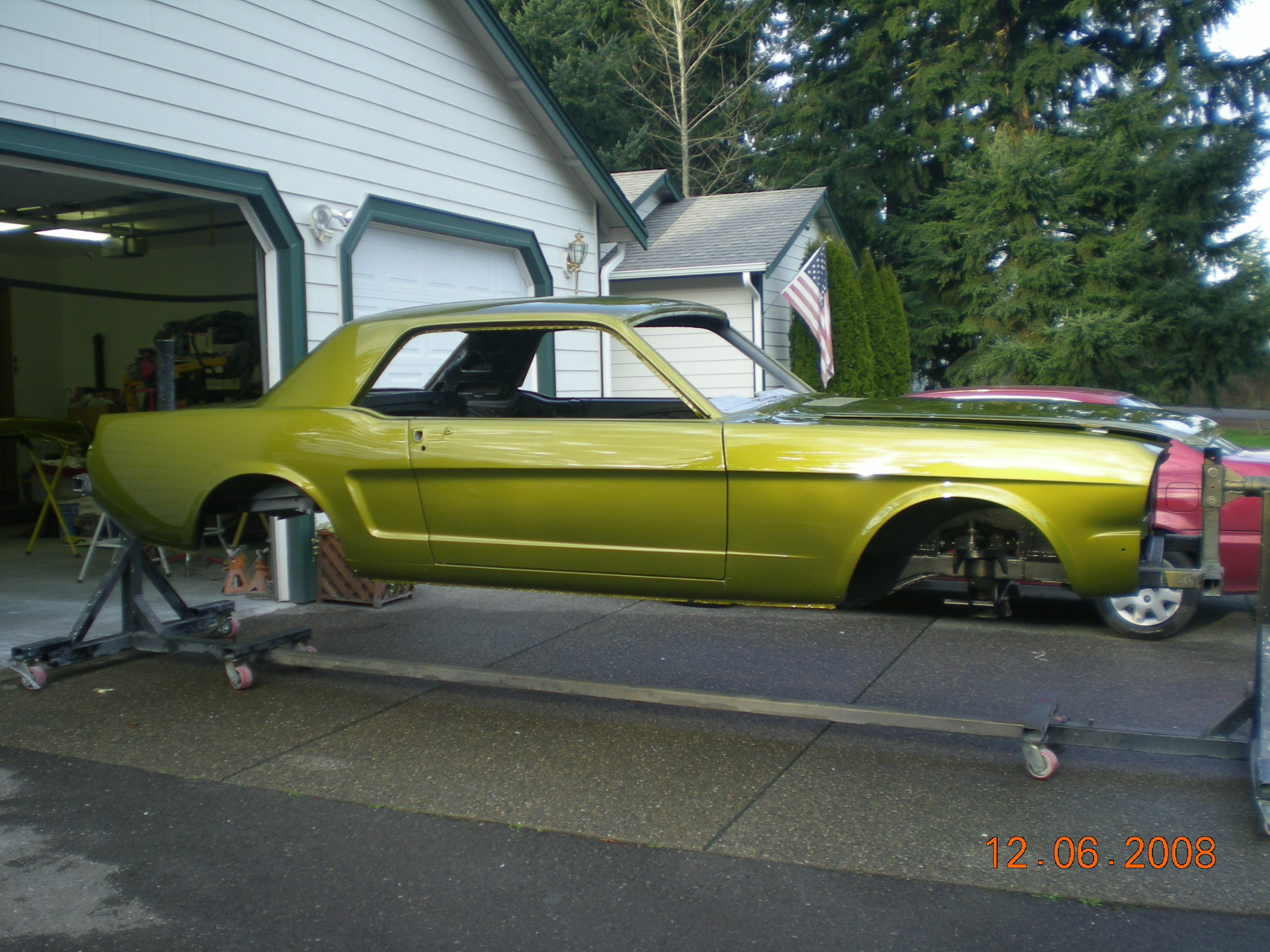 How Much Is A Car Paint Job >> The paint and buffing is DONE on 66 Mustang/SVO 2.3 Turbo ...