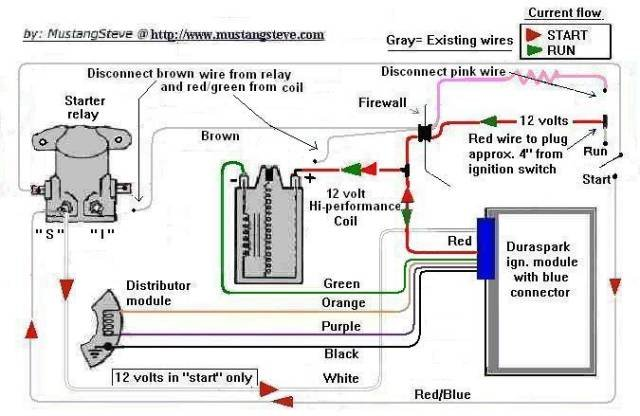 D Mustang Duraspark Ii Power Source Durasparkwiring on basic ignition wiring diagram