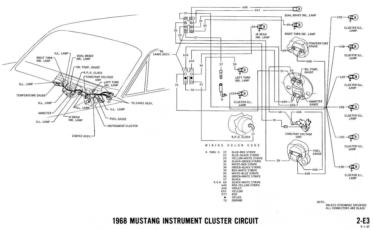 Amp Gauge Wiring Diagram 72 Mustang Library 1968 Chevelle Schematic 68 Ammeter Ford Forum Rh Allfordmustangs Com