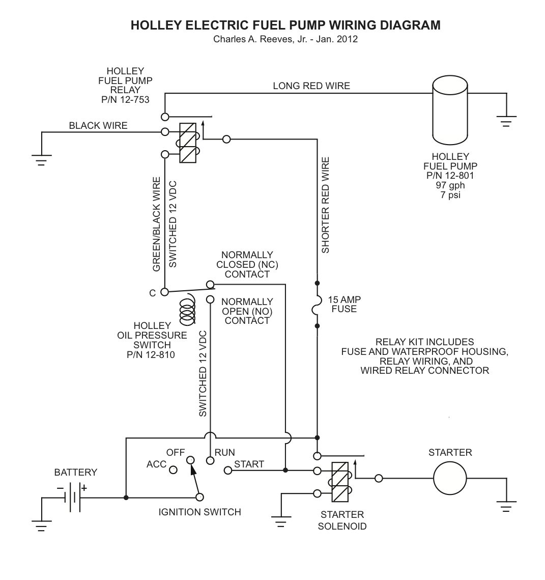 installing a holley electric fuel pump in a 1966 mustang ford click image for larger version elect fuel pump wiring diagram jpg views