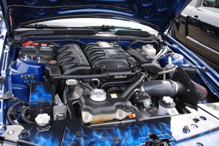 Airbrushed Flames Amp E Force Amp Updated Pics 2007 Mustang Gt