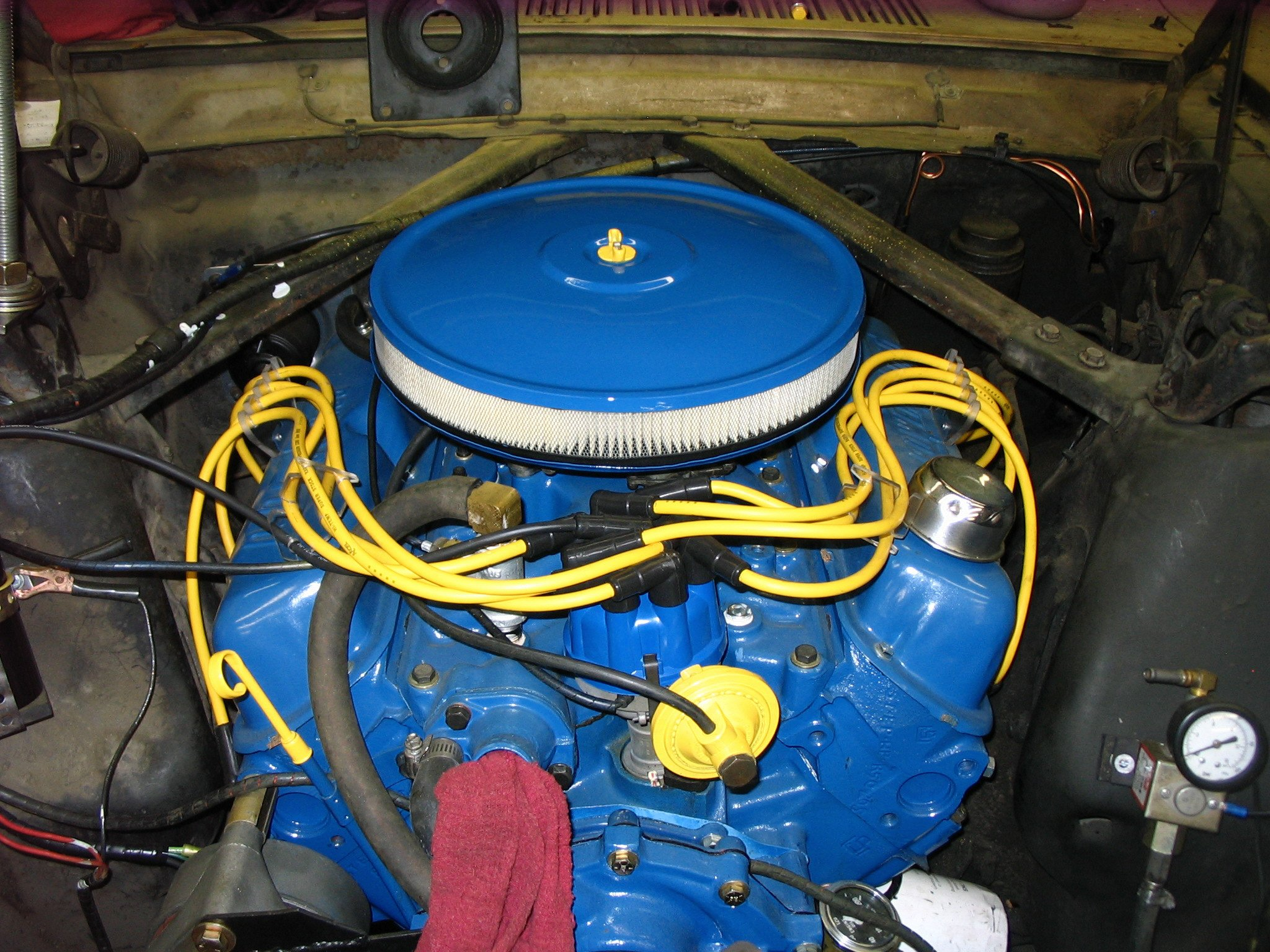 1966 289 Mustang-Spark plug wire looms. What does your setup look ...