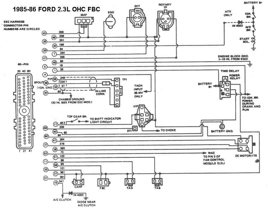 Does Anyone Have An 1985 Mustang 2 3l Wiring Diagram