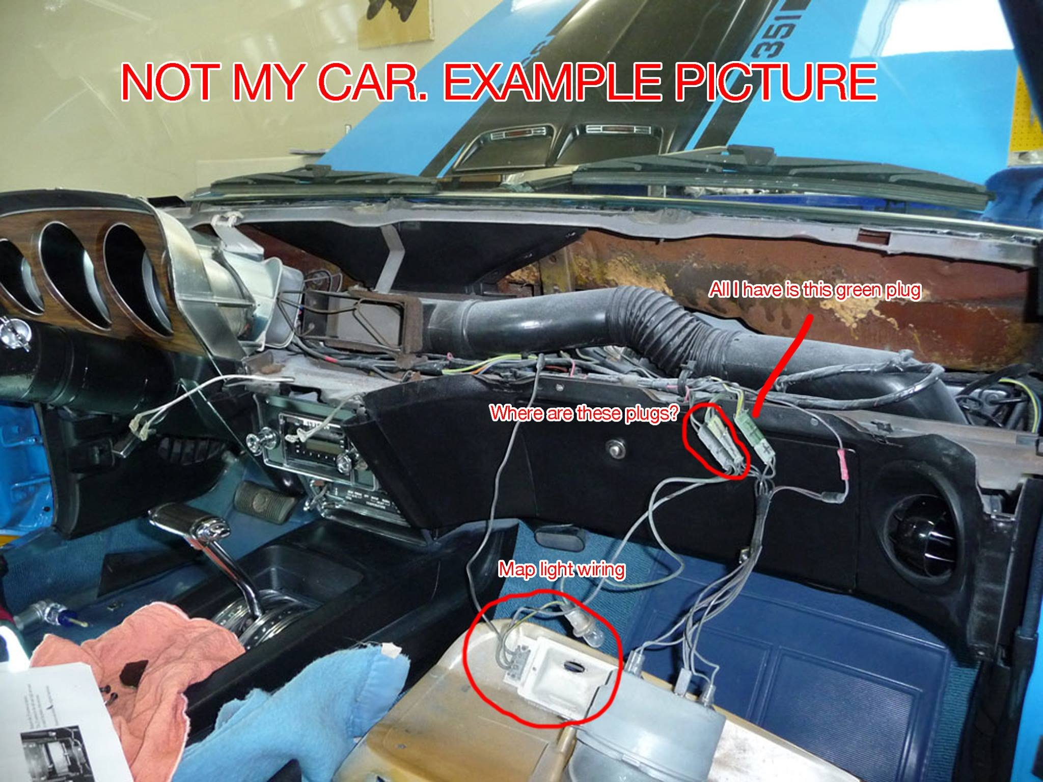 1970 mach 1 dash wiring need help! ford mustang forum 65 mustang radio wiring diagrams click image for larger version name example dash jpg views 11215 size