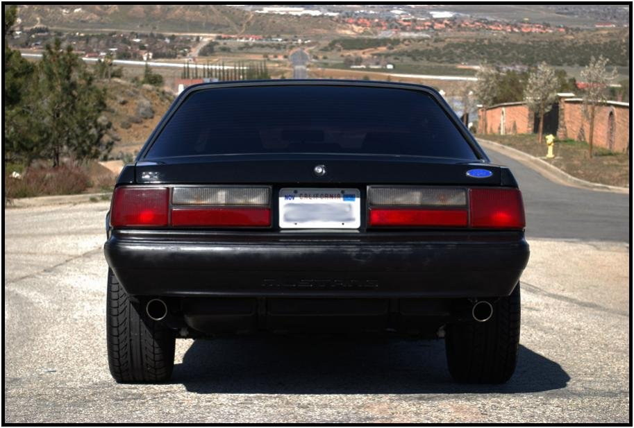 fox body exhaust tips  size ford mustang forum