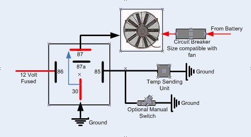 I installed my electric fan relay kit but ford mustang forum click image for larger version name fan relay schematic with circuit breaker addedg publicscrutiny Image collections