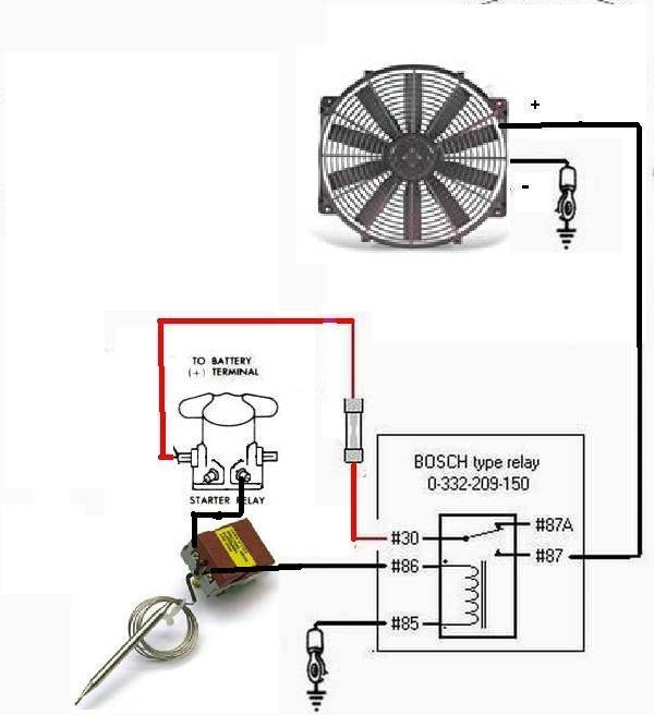 electric fans with relay wiring ford mustang forum Electric Fan Relay Kit Electric Fan in Electrical Schematic