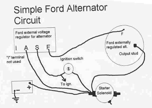 83 mustang alternator not charging - ford mustang forum 3 wire marine alternator wiring diagram