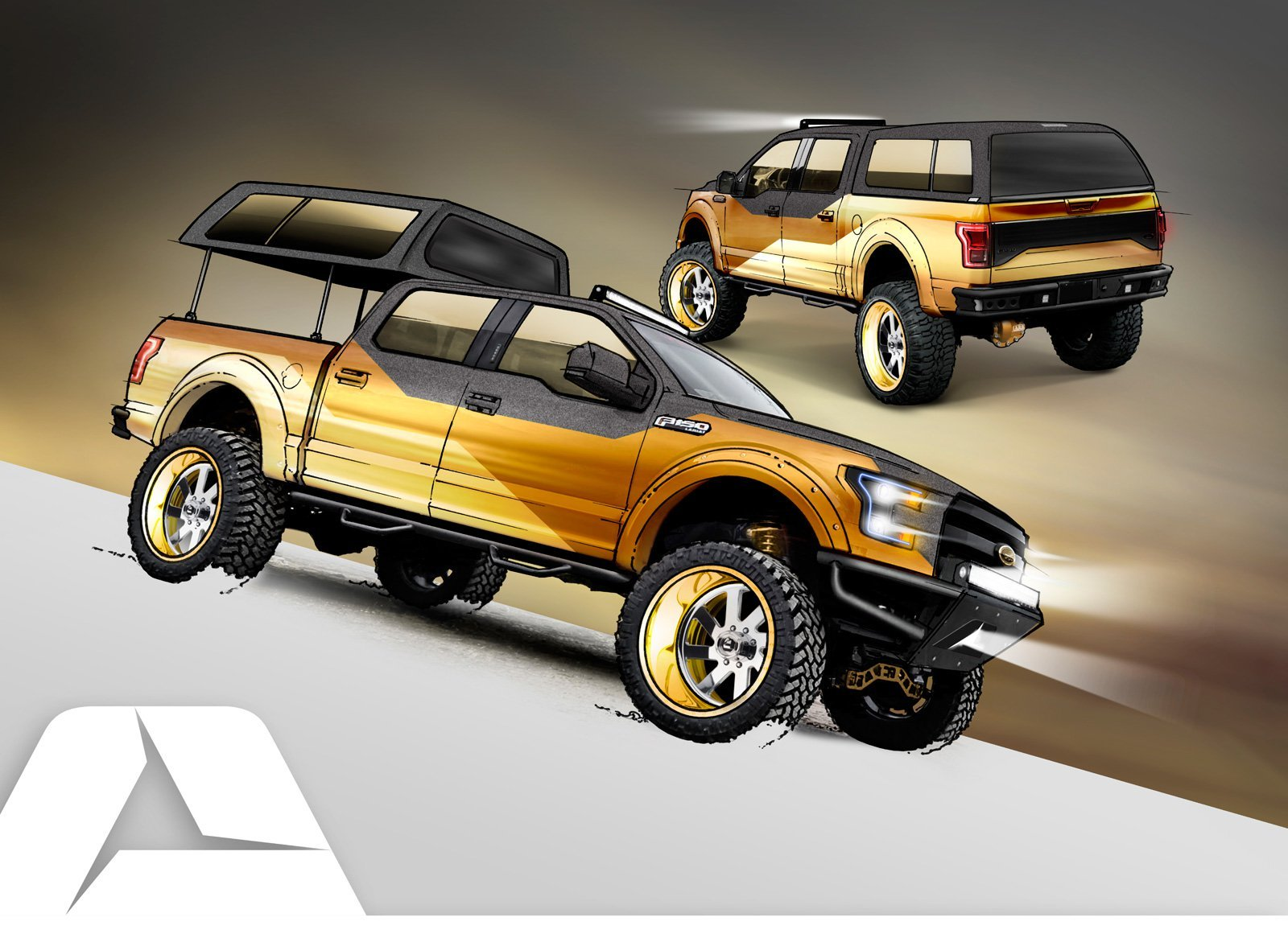 Custom Ford F-150 Pickup Trucks Previewed for SEMA