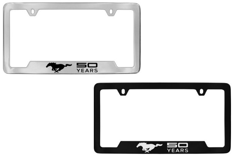 ford mustang 50th anniversary license plate frame