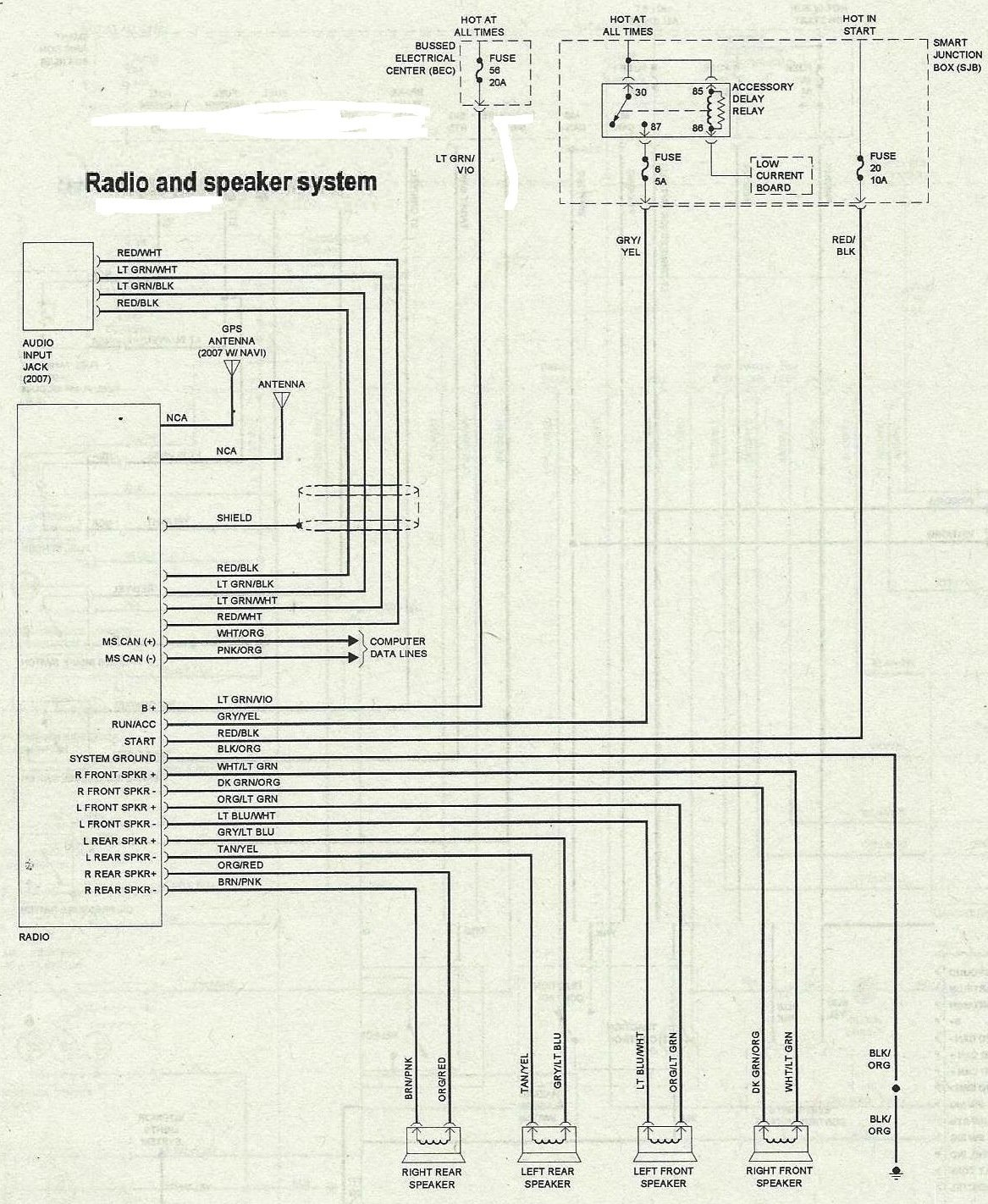 2007 Mustang Gt Wiring Product Wiring Diagrams \u2022 2007 GMC Radio Wiring  Diagram 2007 Mustang Gt Radio Wiring Diagram