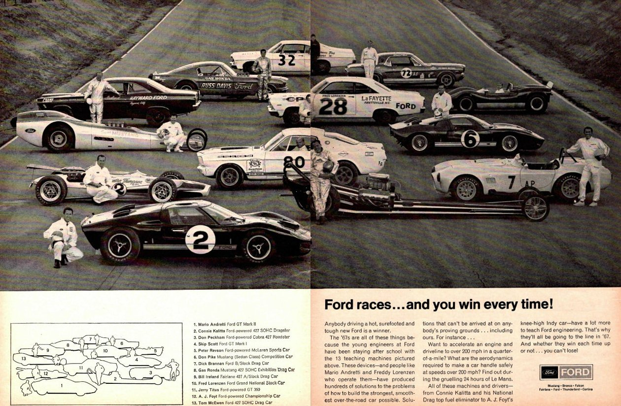 ford print ad 1967