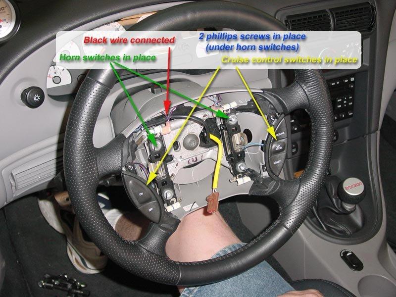 08 mustang wiring diagram my steering wheel doesn t have connectors   ford    mustang     my steering wheel doesn t have connectors   ford    mustang