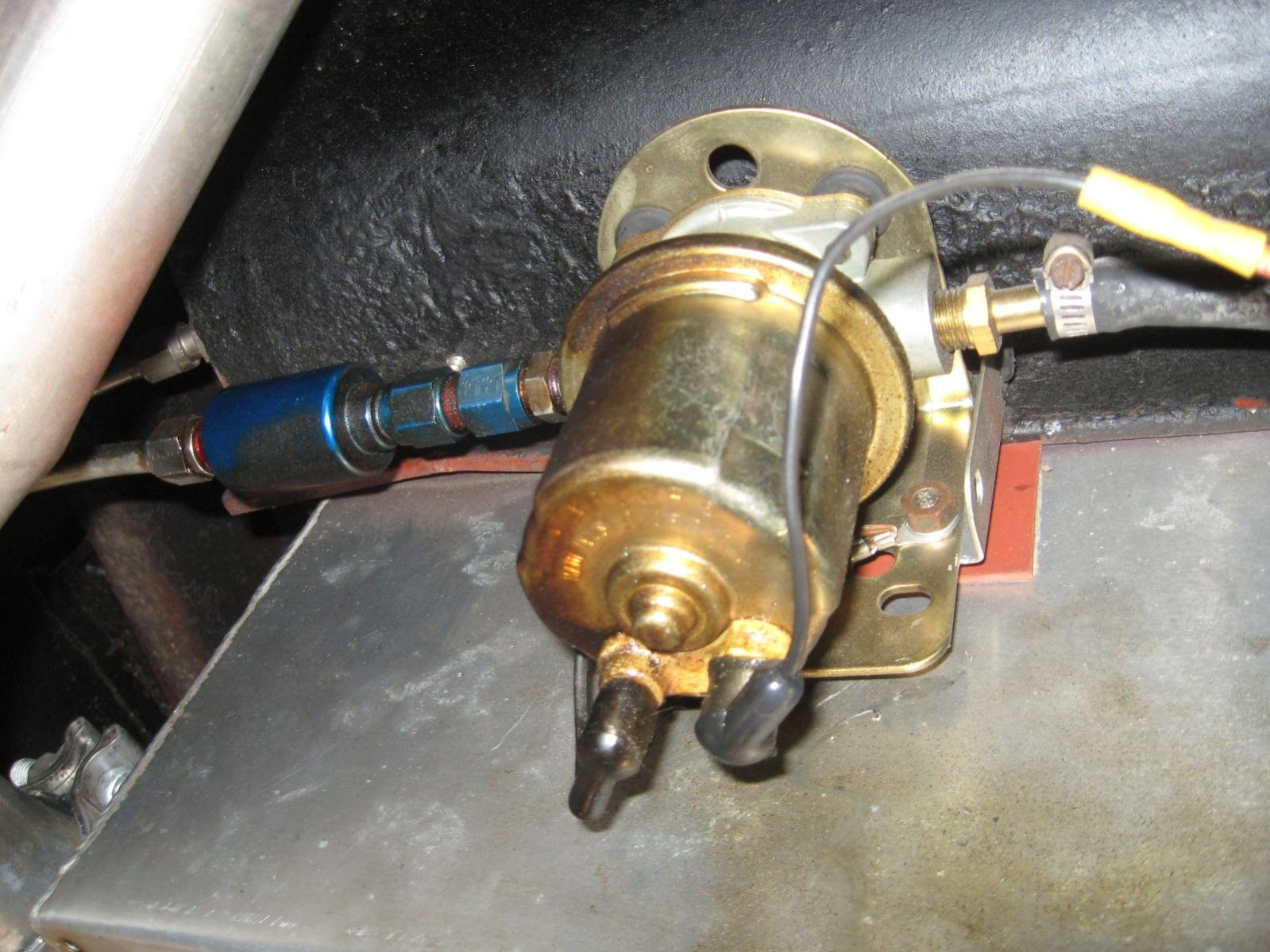65 Electric Fuel Pump Mounting Questions Ford Mustang Forum